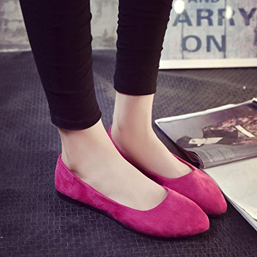 Scrub Flat Casual Loafer Pointed Ladies Pink Hot Solid A Sandals Shoes Slip Shoes Women Byste xYAZ00