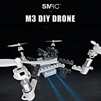 Fineser M3 DIY RC Drone with 0.3MP Wi-Fi Camera 2.4GHz Quadcopter - Headless Mode,Altitude Hold, One Key Take-Off and Landing Easy Operation (White)