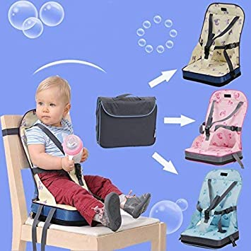 Oxford Water Proof Fabric Baby Nurse Bag and Chair Portable Easy Seat Pink Souyun Tech 2 in 1 Baby Dining Chair Bag with Safe Harness