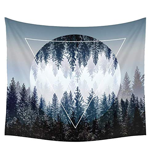 - FULLANT Tapestry Wall Hanging Sunset Forest Tapestry Soft Shawl Beach Towel Picnic Mat Tablecloth Beautiful Living Room Bedroom Decoration (59 W by 79