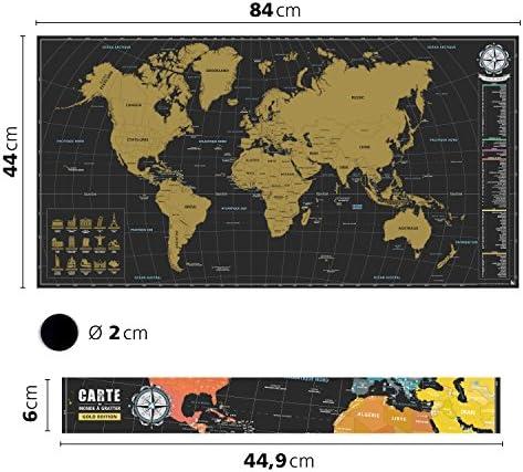 benehacks Mapa del Mundo en Galo Tipo póster para rascar SIGA Sus ...