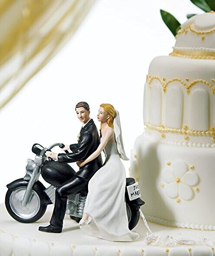 - Willow Tree Promise Wedding Cake Topper, Romantic Motorcycle Posture Bride and Groom Wedding Cake Topper.