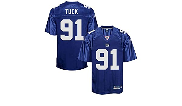 quality design 1219a 348be Amazon.com : Reebok New York Giants Justin Tuck Replica ...