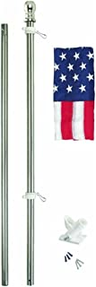 product image for Valley Forge Flag All-American Series 3 x 5 Foot Nylon US American Flag Kit with 6-Foot Powder-Coated Steel Pole and Bracket - SSTINT-AM6