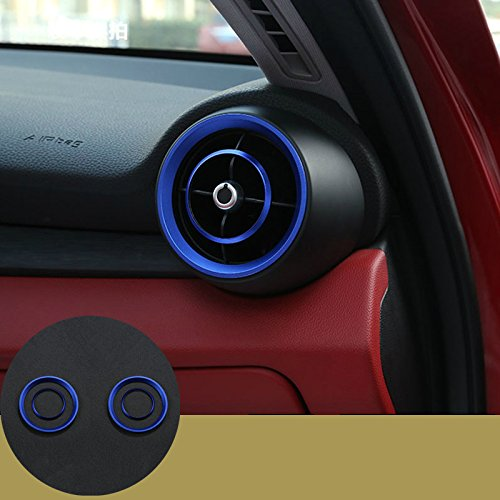 Blue Dashboard Side Air Vent Outlet Cover Ring 4pcs For Alfa Romeo Giulia 2017 ShenzhenBoXi
