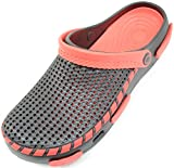 ABSOLUTE FOOTWEAR Mens Summer/Garden / Beach/Holiday / Hospital Clogs/Sandals - Black - 10 US