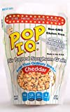 Pop I.Q. – The Best Healthy Snack – Organic Air Popped Sorghum Grain, Cheddar Cheese Flavor – non-GMO, Gluten-Free (Pack of 12 Single Servings)