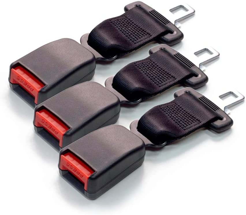 7//8 Inch Type A Metal Tongue Buckle up and Protect Your Family Black Seat Belt Extender Pros E4 Safety Certified Regular 7 Inch Seat Belt Extender 3-Pack