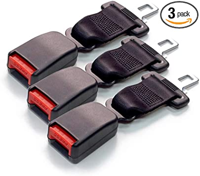 Seat Belt Extender Pros E4 Safety Certified Rigid 7 Inch Seat Belt Extender 3-Pack Black Buckle up for Safe Driving 7//8 Inch Type A Metal Tongue