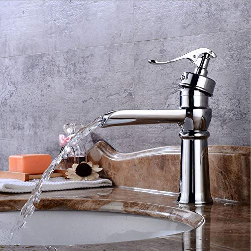 GONGFF Bathroom Sink Taps Faucet Galvanized Faucet Vanity tap European Vintage hot and Cold tap undercounter Faucet Lavatory Faucet Waterfall tap Faucet washbasin tap 1-Section