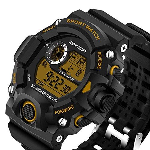 Price comparison product image Wdnba Mens Watch Quartz Watches Military Watch Fashion Dive Men's Sport LED Digital Watch