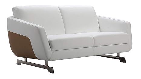 Amazon.com: Zuri Furniture Armondo - Apariencia de piel de ...