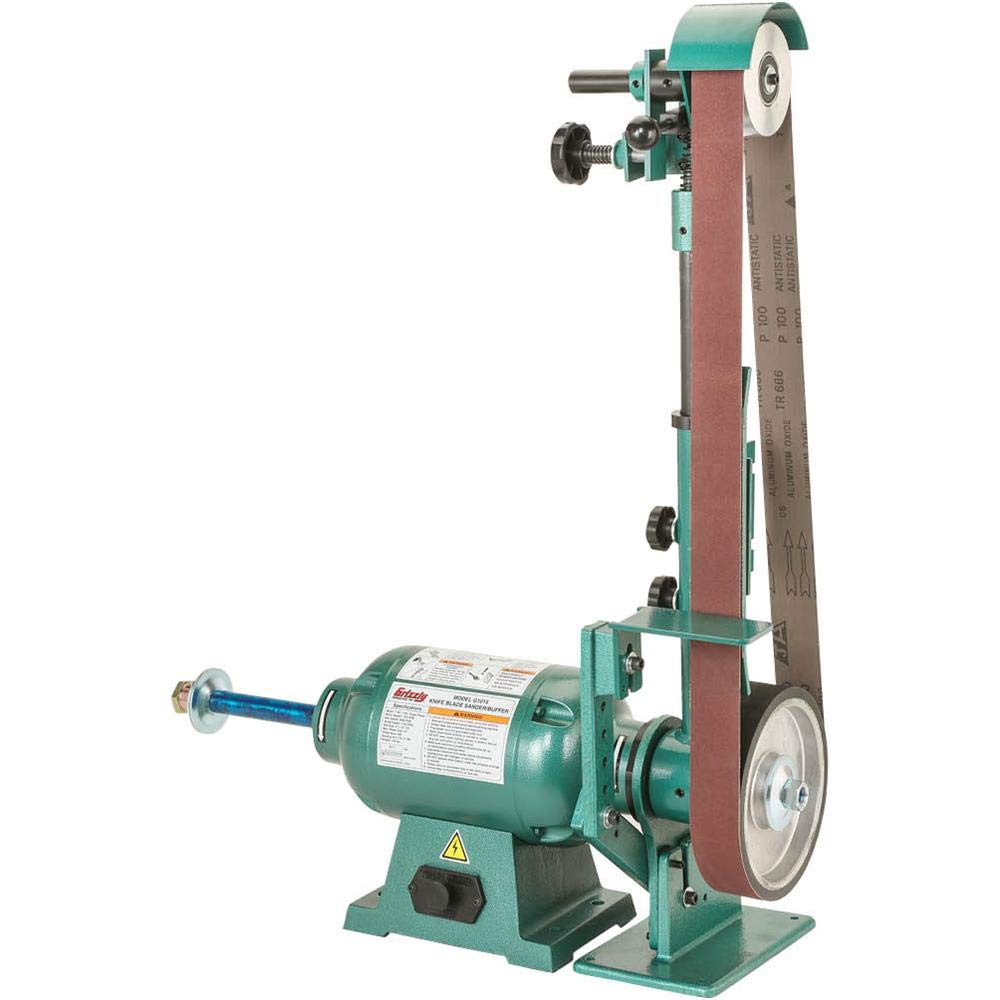 Grizzly Industrial G1015 - Knife Belt Sander/Buffer by Grizzly
