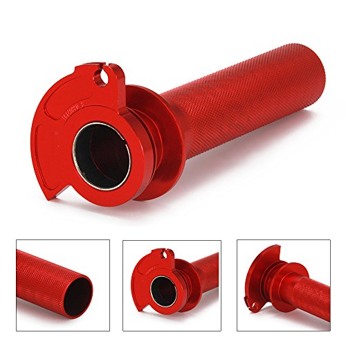 JFG RACING Red CNC Aluminum Billet Anodised Lever Control Twister Throttle Handle Tube For HUSQVARNA WR125 WR250 CR125 00-12 CR250 00-04 WR360 00-02 WR300 09-12