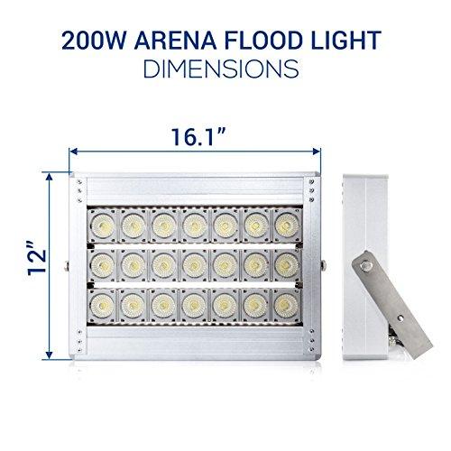 200w 5000k Flood Light With Lens: Hyperikon LED Stadium Light, 200W Flood Light, Super