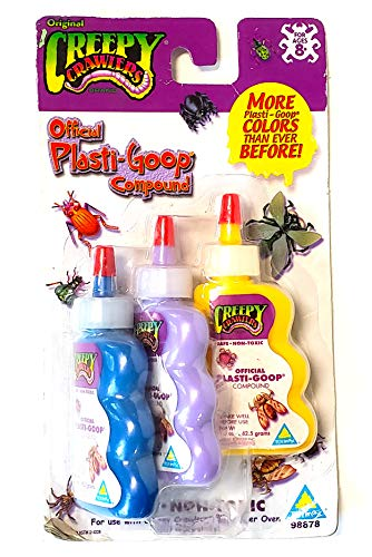 Creepy Crawlers - Official Plastic-goop Compound 3-Pack (Colors Vary)