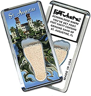 """product image for St. Augustine """"FootWhere"""" Fridge Magnet. Made in USA (StA205 - Museum)"""