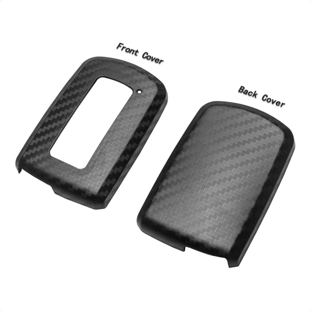 TANGSEN Smart Key Fob Case Cover for TOYOTA AVALON CAMRY COROLLA HIGHLANDER RAV4 2 3 4 Button Keyless Entry Remote 3D Carbon Fiber ABS Plastic Emboss Silicone Rubber