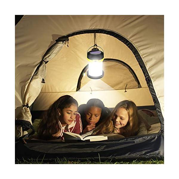 51hX13XjLaL Molbory Camping Laterne Taschenlampe Zusammenklappbar, 2 Lademethoden Solar und USB mit 3 Lichtmod Faltbare Camping…