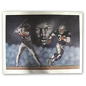 Bo Jackson Hand Signed Auto Large Poster Baseball Football Royals Oakland Raider