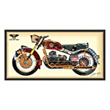 Empire Art Direct ''Holy Harley'' Dimensional Art Collage Hand Signed by Alex Zeng Framed Graphic Wall Art