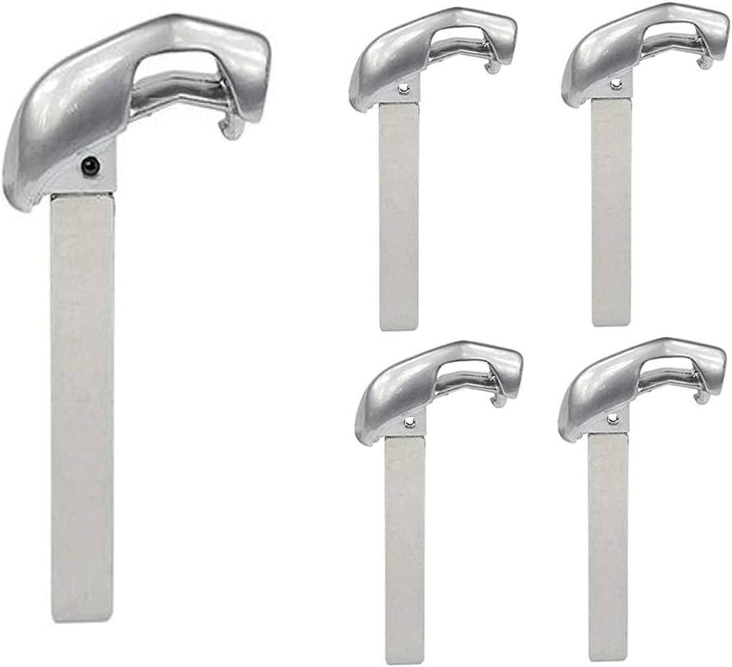 Pack of 5 GTL New Uncut Replacement Insert Key Blade for Cadillac Smartkeys