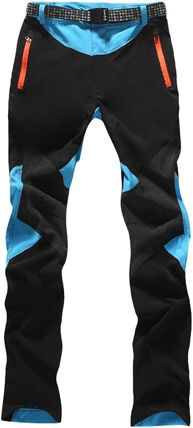 U/A Mujer Pantalones de Escalada con cinturón Pantalones de Trekking Softshell Pantalón de Acampada y Marcha