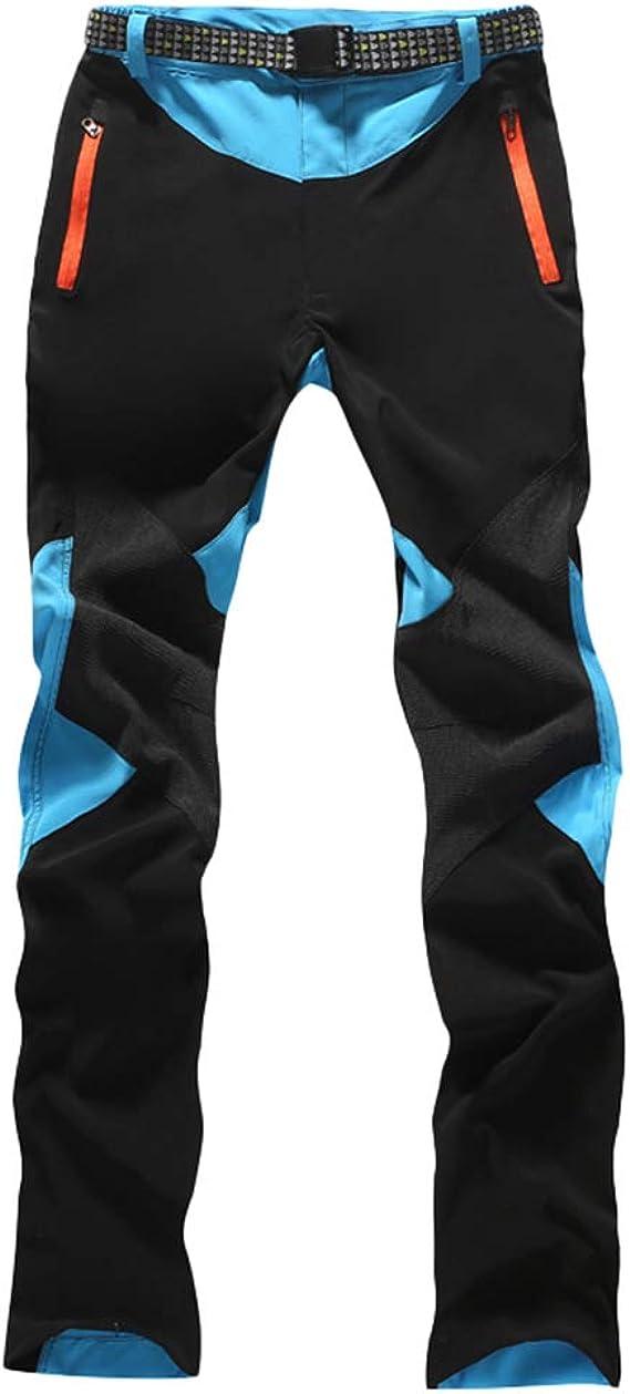 Haobing Mujer Pantalones de Escalada con cinturón Pantalones de Trekking Softshell Pantalón de Acampada y Marcha