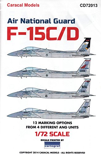 F-15d Eagle - CARCD72013 1:72 Caracal Models Decals - F-15C F-15D Eagle Air National Guard [DECAL SHEET]