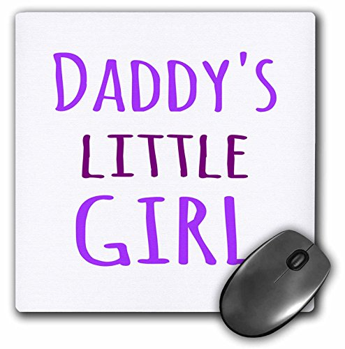3dRose Daddys Little Girl Purple Text Fun Gifts for Daddies Girls Mouse Pad (mp_193723_1)