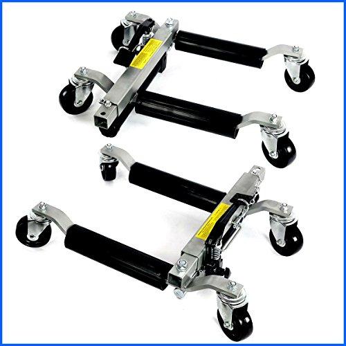 Hydraulic Wheel Dolly Jack Lift 2PC 1500LBS Capacity Positioning Car Hoists Moving Vehicle Heavy Duty Lifter - House Deals