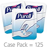 PURELL Advanced Hand Sanitizer Gel Singles, Fragrance Free, 125 Count Portable, Individual Single Use Sanitizer Gel Packets in Display Box - (Box of 125) - 9620-12-125EC