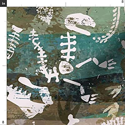 Spoonflower Fabric - Geology Bones Rocks Geode Printed on Petal Signature Cotton Fabric by The Yard - Sewing Quilting Apparel Crafts Decor