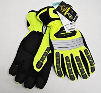 Revco Hi Vis Spandex Extreme Winter Work Gloves X Large Work Gloves Amazon Com