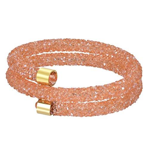 BIJOUX BOBBI [Gift Box Included Elegance Dust Upscale Crystal Stud Bracelets - Champagne - - Champagne Bijoux