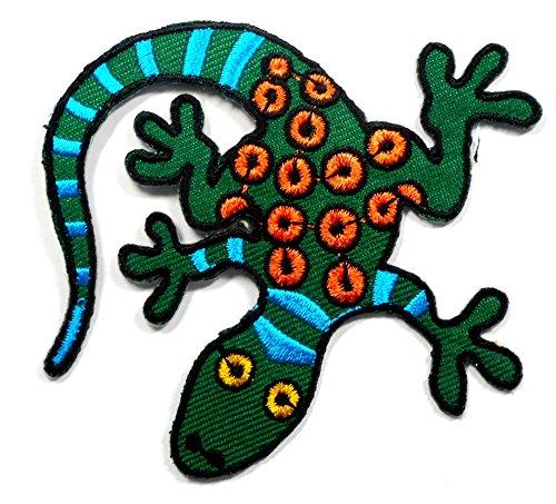 【ノーブランド品】アイロンワッペン ワッペン 動物・魚・生き物ワッペン 刺繍ワッペン トカゲ アイロンで貼れるワッペンの商品画像