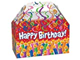 Pack of 6, Birthday Candles Gable Boxes 8.5 x 4.75 x 5.5'' for Unique Presentations & Food Packaging