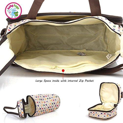 Babyhugs® 5pcs Bebé Pañales Cambiar Pañales Messenger Hospital Maternidad Bolsa Set con diseño de lunares de colores, color rosa: Amazon.es: Bebé