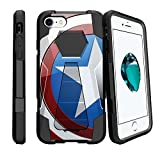 MINITURTLE Compatible with Apple iPhone 8 [Shock Fusion] Locking Stand Case [Hard Shell Cases][AntiScratch] America Shield Hero
