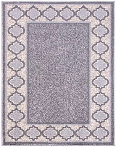 Diagona Designs Contemporary Moroccan Trellis Border Design Non-Slip Area Rug, 3'3