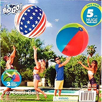 H2O Huge 5 FEET Beach Ball, Set of Two by H2OGo