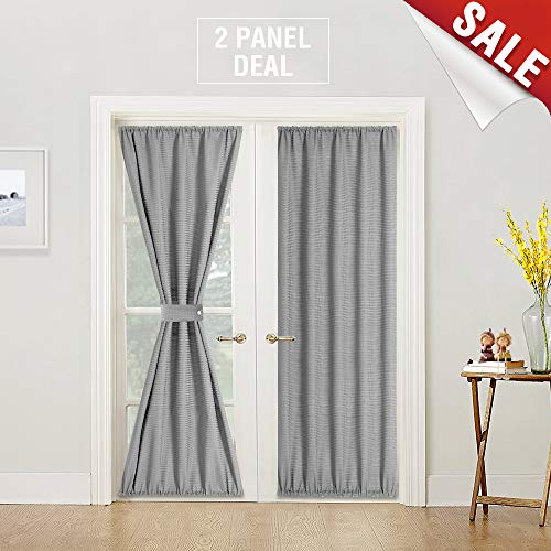 jinchan Waffle-Weave French Door Panels 2 Panels, 72″ L, Grey Review