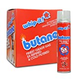 12 cans (1 case) Whip-it! 300ml 5x Refined Butane Fuel
