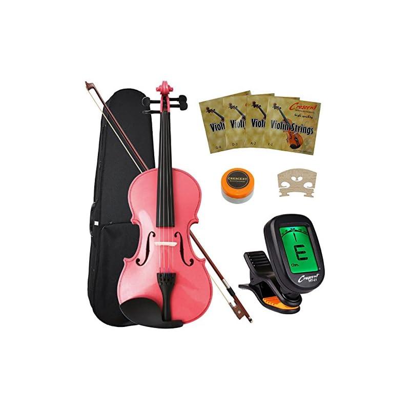 Crescent 4/4 Pink Maple Wood Acoustic Vi