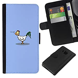NEECELL GIFT forCITY // Billetera de cuero Caso Cubierta de protección Carcasa / Leather Wallet Case for HTC One M9 // Divertido C0ck Gallo