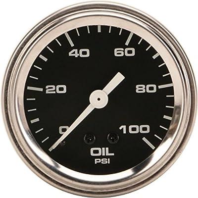 Mechanical Oil Pressure Gauge, 2-1/16 Inch, Black: Automotive