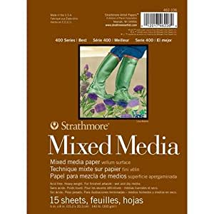 "Strathmore Mixed Media Paper Pad 6""X8""-15 Sheets"