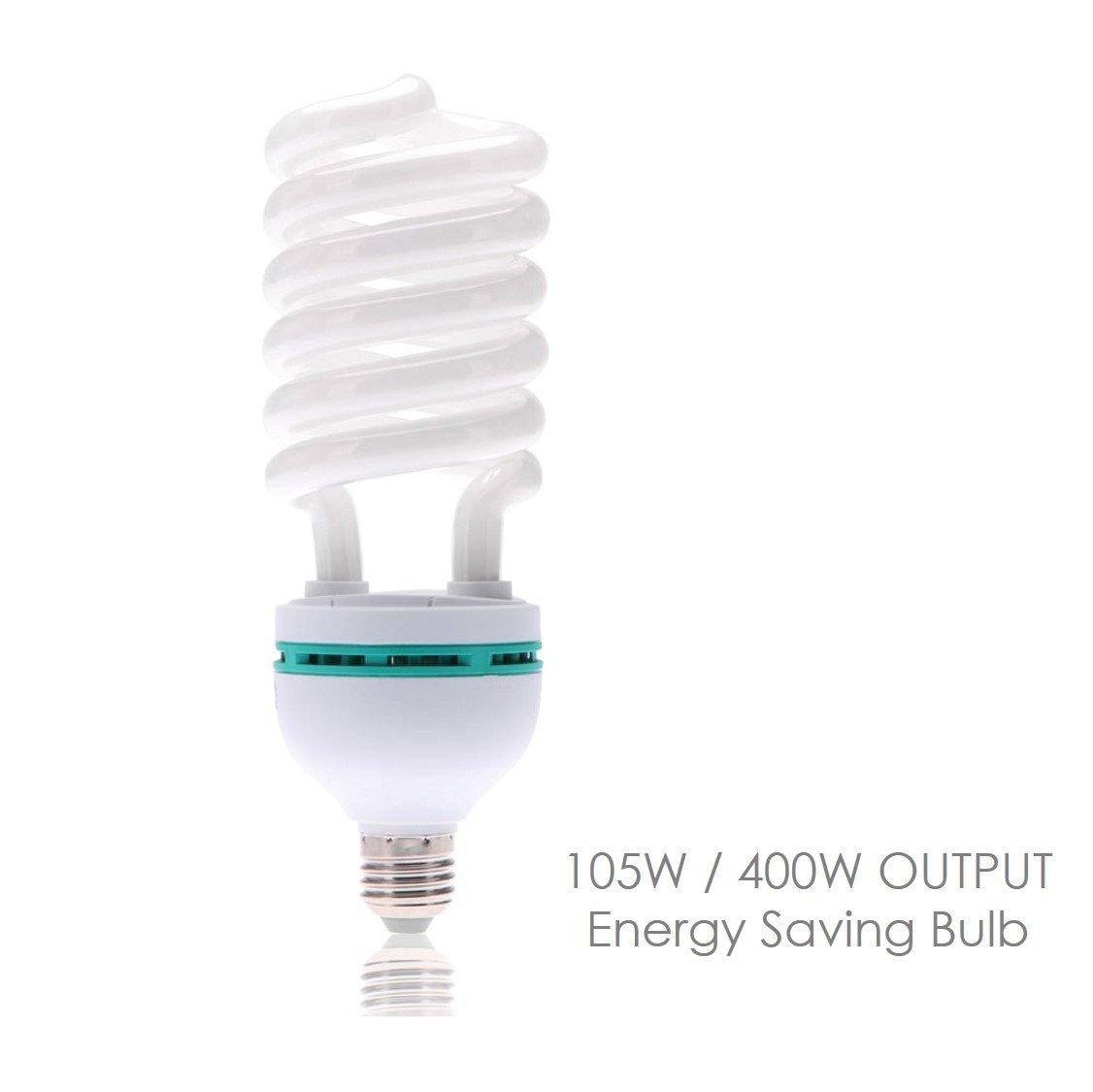 LimoStudio Full Spectrum Light Bulb 105 Watt 5500K CFL Daylight Bulb White Balanced Light, LMS697