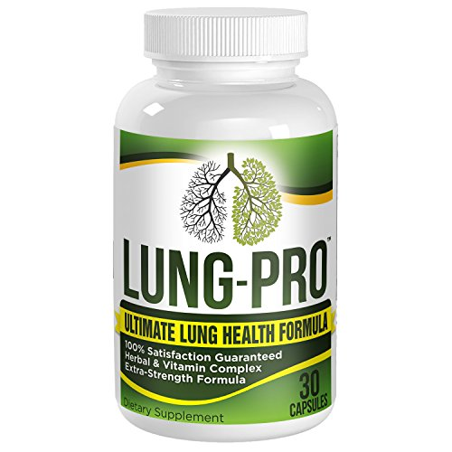 Lung-Pro: Daily Lung Health Support Supplement - Cleanse - Detox - Pills - Supplements - 30 Capsules