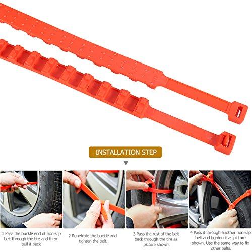 Emergency Tire Chains Set WINOMO 5Pcs Tyre Chains Car Anti-skid Chain for Sedan SUV Light Pickup Truck by WINOMO (Image #5)
